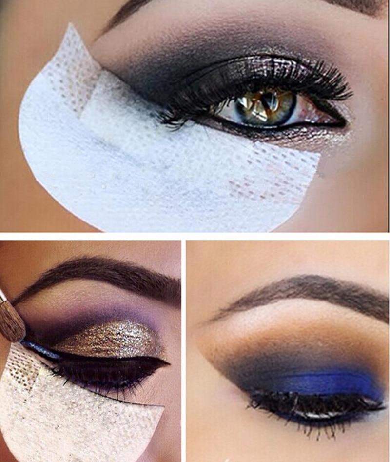 100 stücke/50pairs Lidschatten Shields Unter Eye Patches Einweg Lidschatten Make-Up Protector Aufkleber Pads Augen Make-Up Anwendung