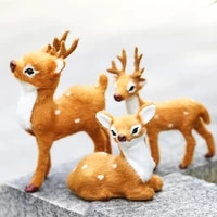 christmas small deer doll home shop window showcase fireplace mantel decorations gift