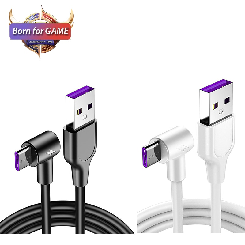 90 grados USB tipo C Cable de carga rápida de 5A para xiaomi mi 9 9t cc9 redmi note 8 k20 pro samsung Galaxy s10 A50 A70 cargador Cable