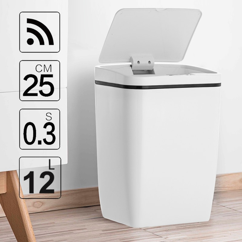 Automatic Touchless Intelligent induction Motion Sensor Kitchen Trash Can Wide Opening Sensor Eco-friendly Waste Garbage Bin enlarge