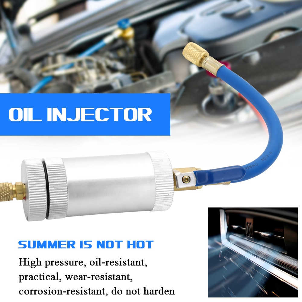 Air Conditioning Car Oil Injection Dye Injection Tool 2 Ounce 1/4