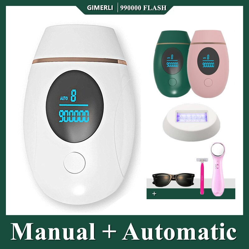 GIMERLI Laser Epilator 900000 Flash Painless Depilador A Laser Permanent Epilator For Women IPL Hair Removal Depiladora Facial