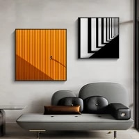 modern building canvas painting colorful visual impact wall art posters and prints wall picture for living room bedroom decor