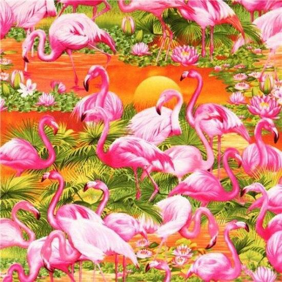 JMINE Div 5D Flamingo Sunset Full Diamond Painting cross stitch kits art High Quality Leaves 3D paint by diamonds
