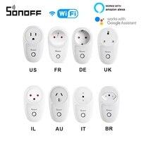 Sonoff     prise intelligente WiFi S26 EU UK US AU  commutateur de base pour maison intelligente  fonctionne avec Alexa google assistant IFTTT