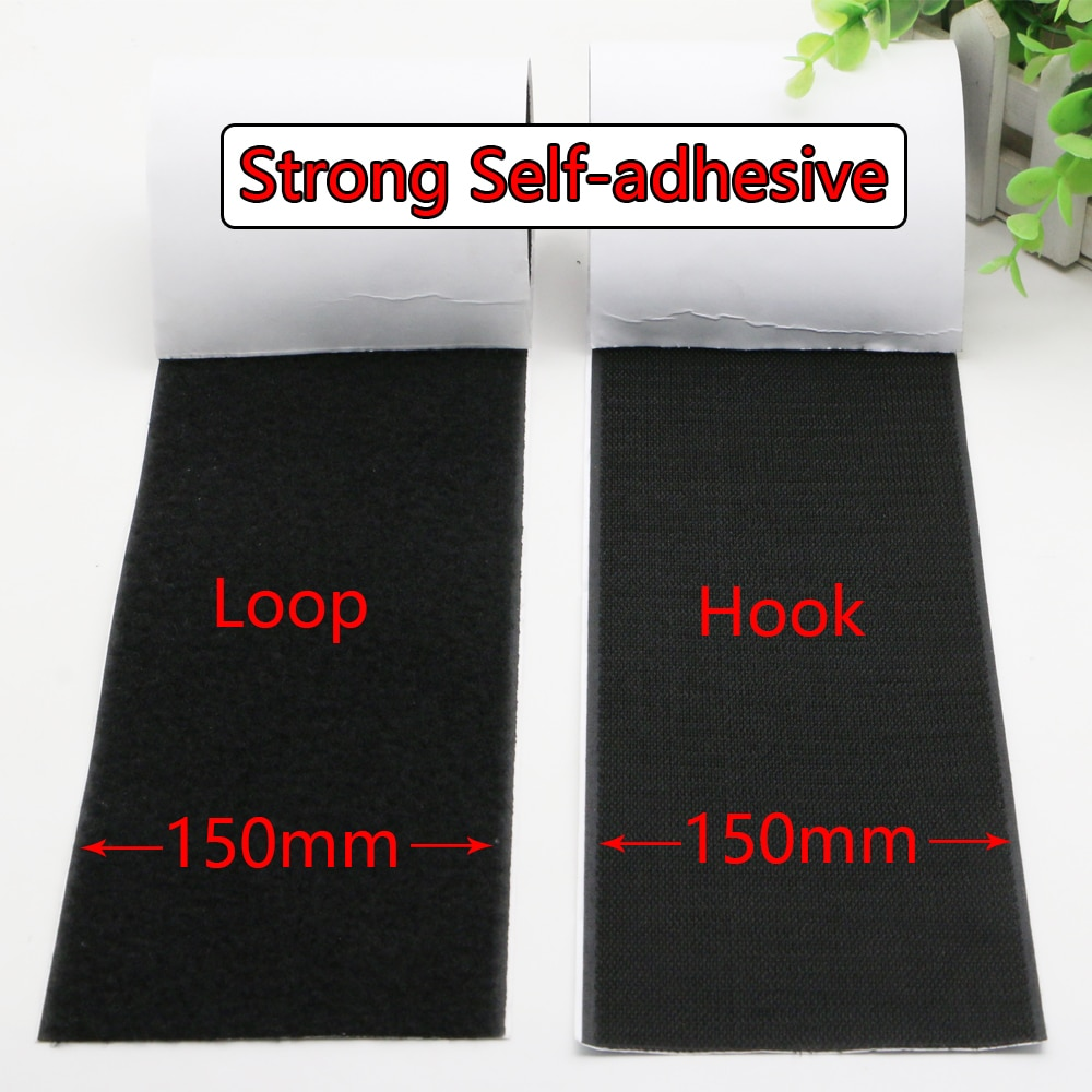 150mm Strong self-adhesive fastener tape hook and loop adhesive velcros tape magic gum strap sticker tape wiht glue for DIY