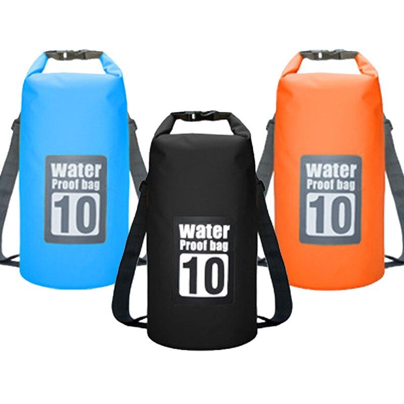 10 l bolsa impermeable al aire libre trekking camping mochila impermeable playa océano bolsa agua resistente rafting natación seco saco río