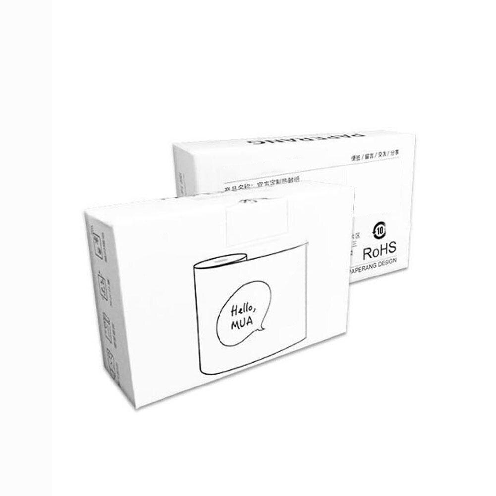 Conjunto de papel de impressão térmica sensível ao calor, 3 rolos 57x30mm de papel de impressão térmica sensível ao calor conjunto de papel de impressão térmica para paperang impressora industrial,