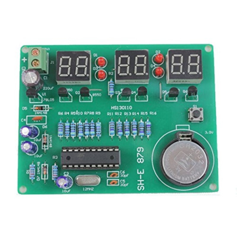AT89C2051 six-digit digital clock kit clock kit electronic clock kit parts 879
