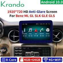 Krando Android 10.0 9 4G 64G autoradio pour Mercedes Benz SLK ML GL GLS GLE 2011-2018 NTG 4.5 5.0 Audio multimédia Bluetooth