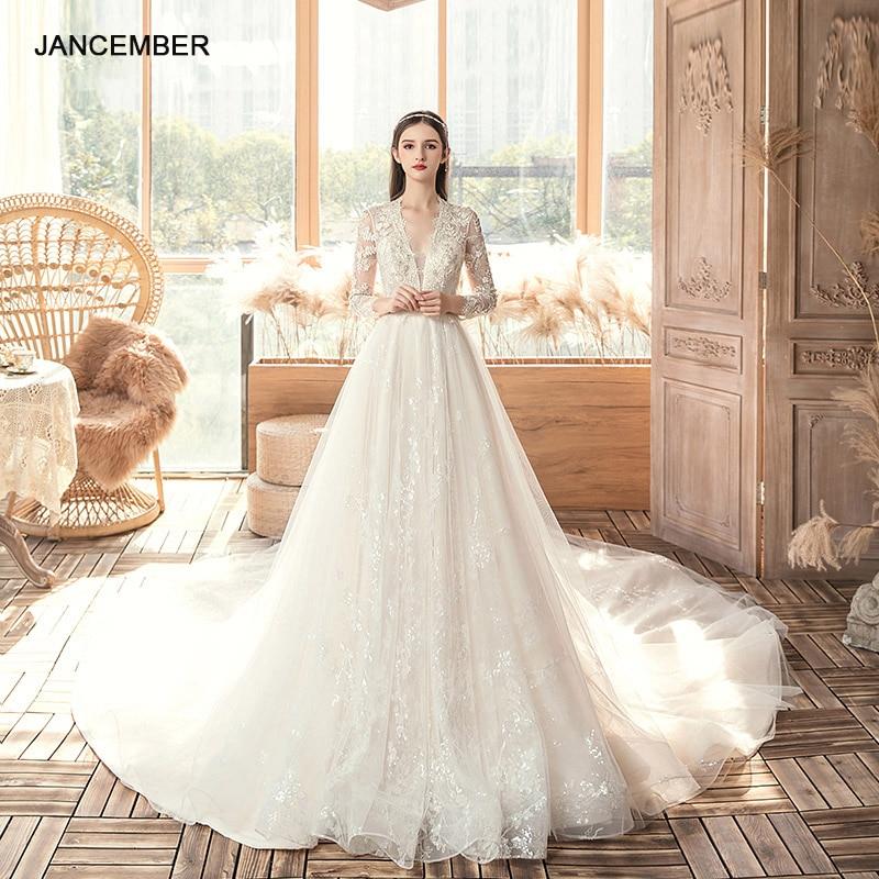 ASN064-vestido de novia de tela veneciana, ropa de boda blanca, elegante, 2021