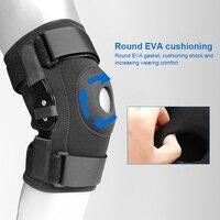 Шарнирный бандаж на коленный сустав, стабилизаторы коленной чашечки с ремешком, спортивные защитные наколенники для защиты колена и облегч...