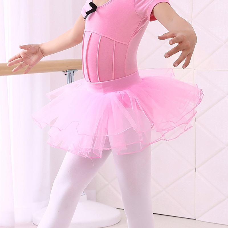 Toddler Kids Girls Gymnastics Ballet Dance Skated Leotard Tutu Skirt Dancewear 1-6T