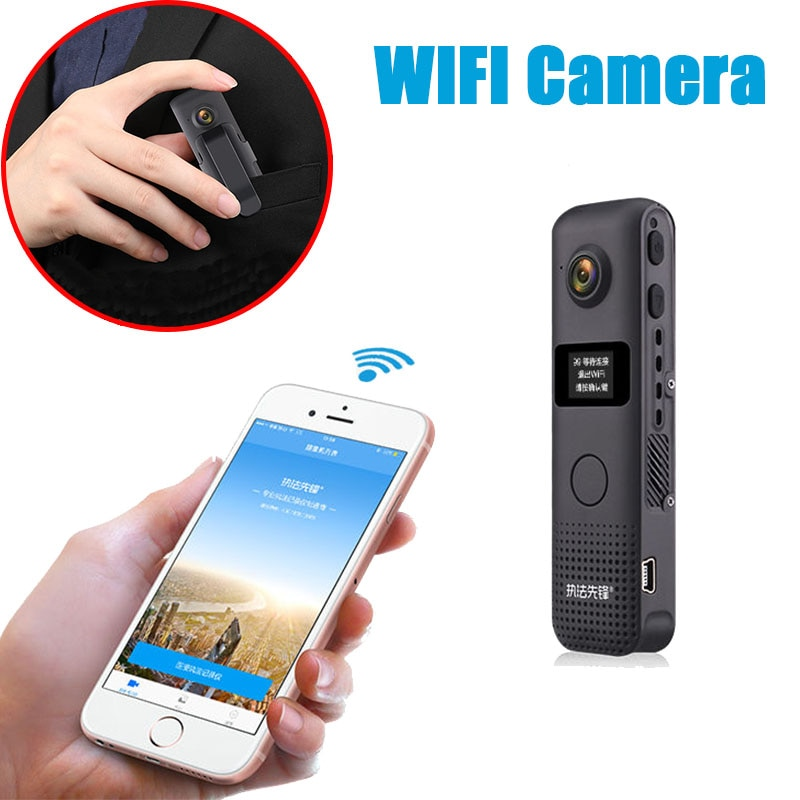 TANNCCCCamcorder Portable Micro Camera Body Cam Loop Recording Cam Motion Detection  C18 Wireless Mini Camera Wifi Small Video