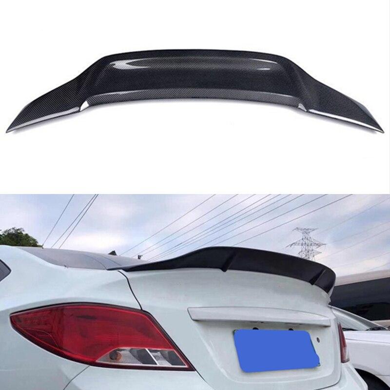 Alerón para Hyundai Verna Accent 2010 -- 2016, alerón trasero estilo Renntech, kit deportivo, accesorios, fibra de carbono real