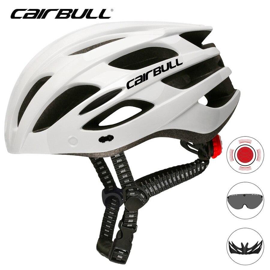 Casco de ciclismo 2020 Cairbull SPARK LED 226g, casco de bicicleta ligero, casco de bicicleta de carretera MTB, luz trasera, casco de bicicleta con lentes, Visor