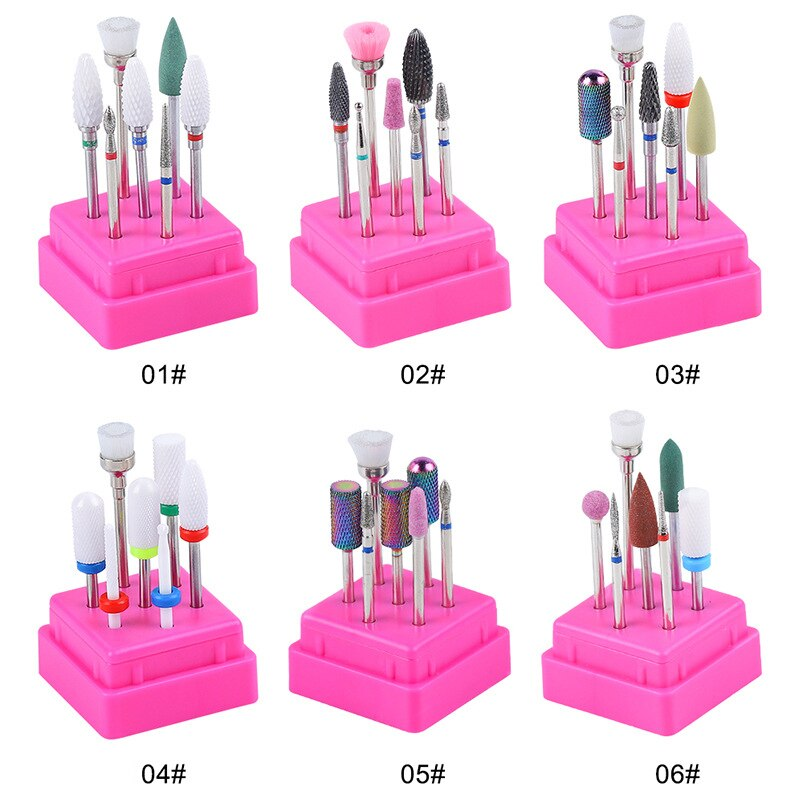 2.35mm (3/32 ) Ceramic Nail Drill Bits Set - Nail File Drill Bit Machine for Manicure Pedicure Cuticle Gel Nail Polishing  - buy with discount