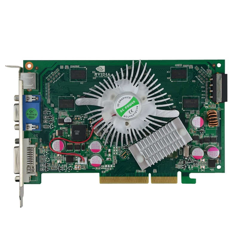 بطاقة فيديو nVIDIA GeForce 7600GT ، جديدة تمامًا ، 512 ميجابايت ، DDR2 ، AGP ، solt ، 8X ، 4X ، VGA ، DVI