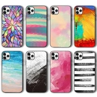 color painting case for iphone 12 pro max case for iphone 11 12 pro xr xs max mini 7 x 8 6 6s plus 5 se 2020 black silicone tpu