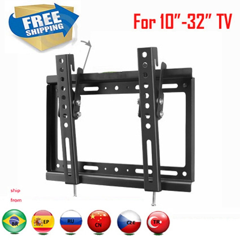 "PTB-6022HT envío gratis VESA 200x200 para 10 ""-32"" LCD ajustable LCD LED PLASMA tv soporte montado en la pared soporte de montaje"