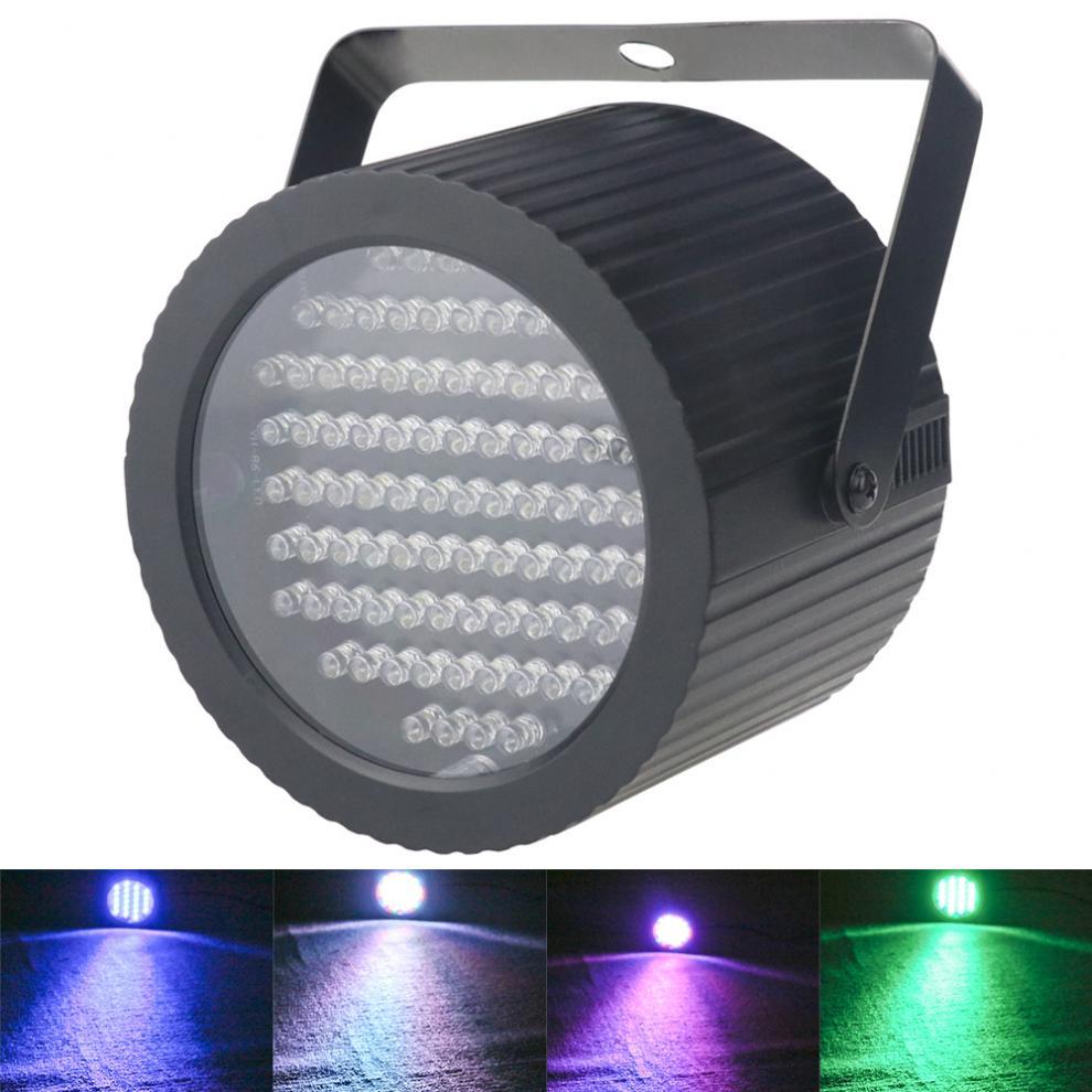 luz de efeito rgbw para palco 86 led 25w com sinal de voz controle por voz auto propelido
