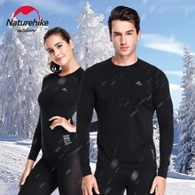 Naturehike 6 set Winter Thermal Underwear Men Women Outdoor Sports Long Johns Quick Dry Skiing Campi