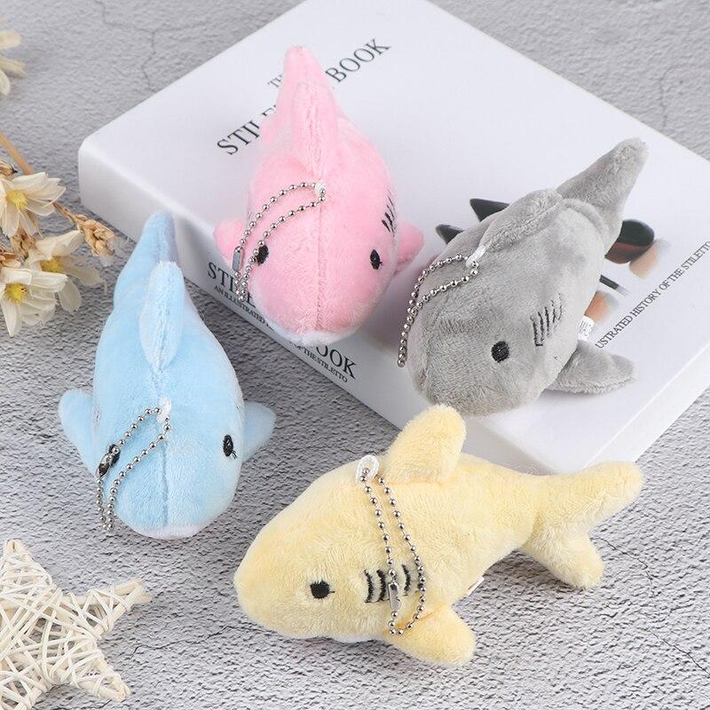 12 cm bonito macio simulação tubarão pelúcia chaveiro pingente brinquedos dos desenhos animados baleia recheado boneca mochila chaveiro saco pingente crianças presentes