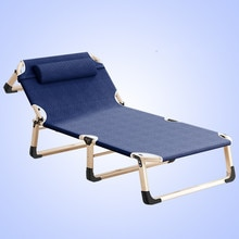 Office Nap Nap Bed Recliner Simple Single Escort Bed Portable Camp Bed Leisure Folding Bed