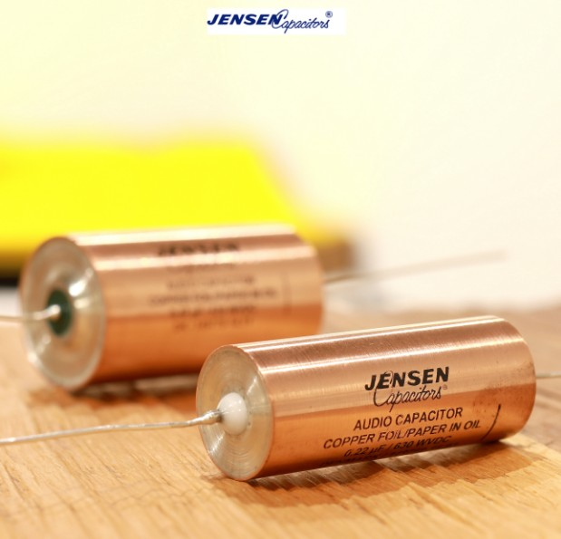 1pcs Danish original JENSEN Ares 0.01-1UF/630v oil-immersed copper foil Silver lead-out Copper tube capacitor free shipping