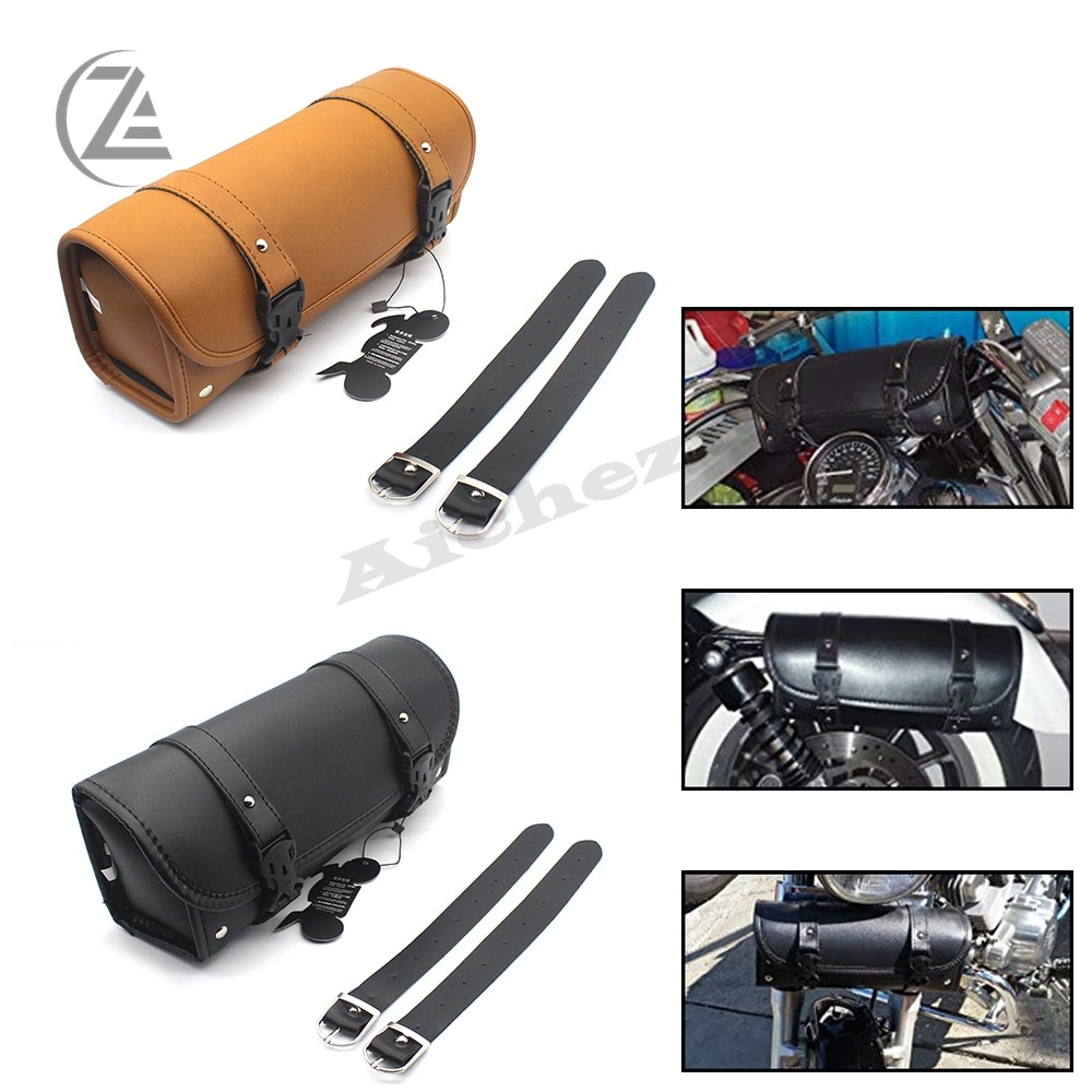 ACZ мотоцикл Chopper Cruiser Bobber мягкая Боковая Сумка сумки для инструментов Сумки для телефона чемодан для Harley Honda BMW Универсальный