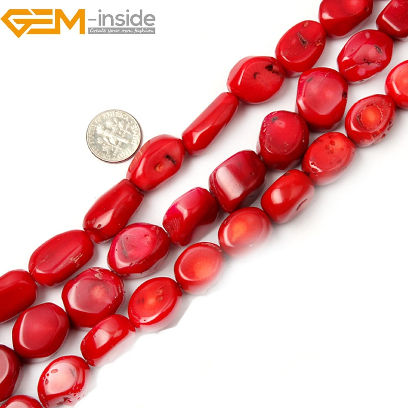 Pomme de terre lisse sans perles de corail rouge pour la fabrication de bijoux brin 15 pouces Simi-perle de pierre précieuse pour bracelet collier bricolage