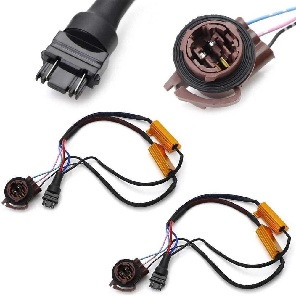 2 Stuks Hyper Flash/Bulb Out Fout Fix Bedrading Adapters Compatibel Met 3157 3057 3155 3357 3457 4157 Turn signaal/Staart Remlichten