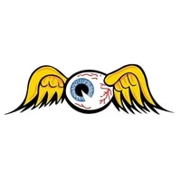 13cm x 5cmpersonality flying eyeball car stickers decoration car bumper vinyl decal accessories motorcycle pvc