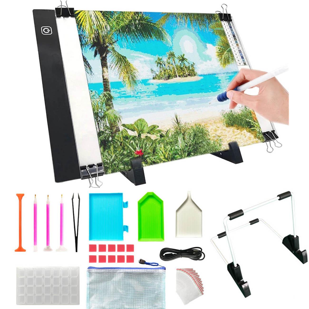 Ультратонкий Светодиодный планшет для рисования, анимационный световой короб с питанием от USB, планшет, холст без рисунка, инструмент для ал...