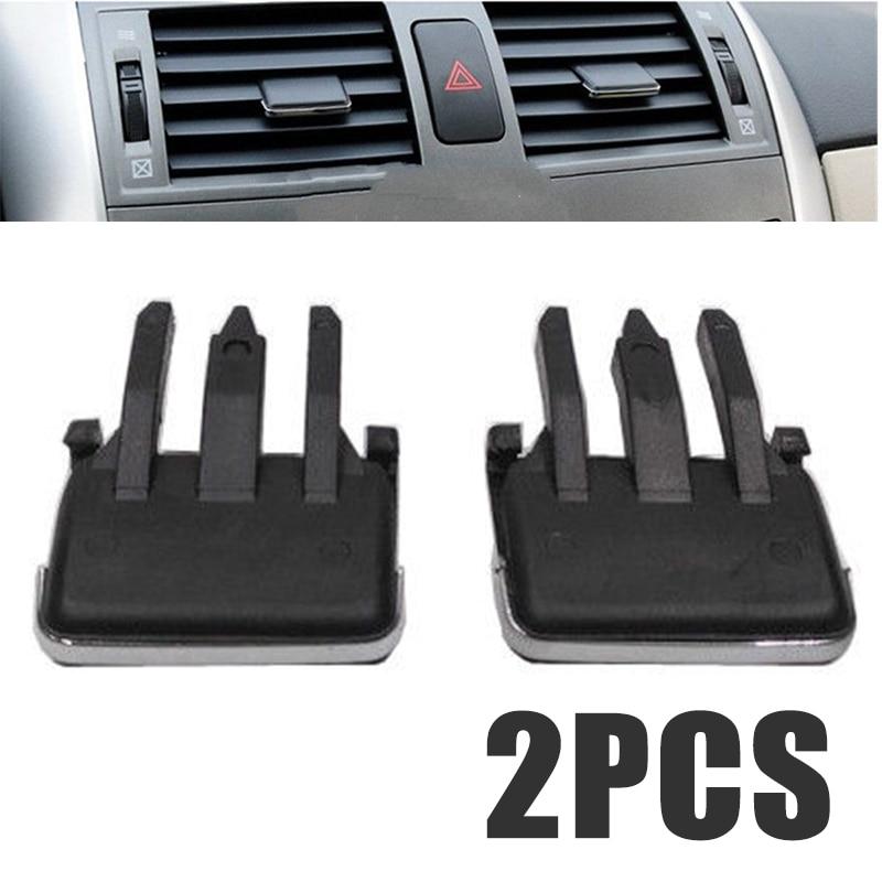 Grille de climatisation Clips de réglage   1 paire, aire de climatisation, voiture évacuation de lair, lame de Louvre pour Toyota Corolla