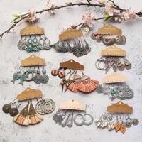 bundles of vintage ethnic boho earrings for women female 2020 trendy drop earrings sets eardrop dangler jewelry accessories