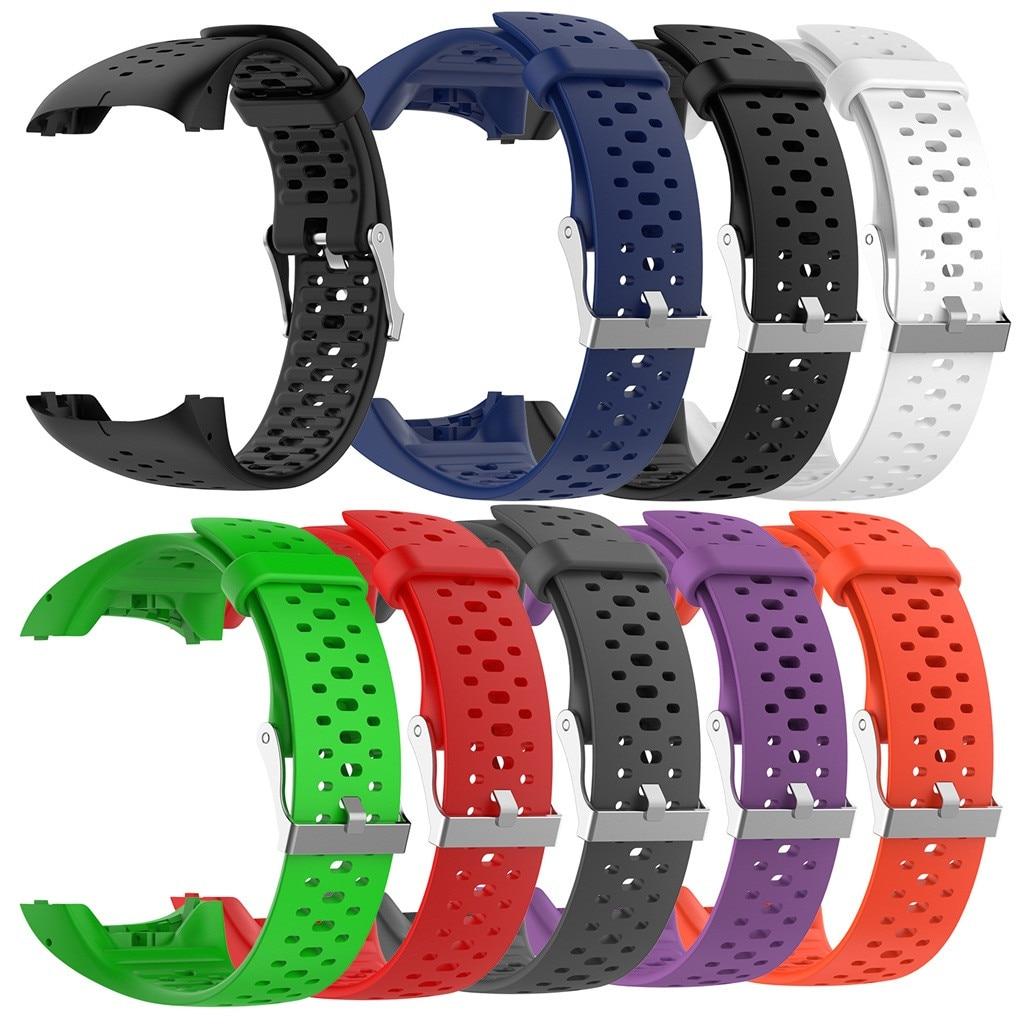 Ouhaobin pulseira de relógio para polar m400 m430 silicone esporte substituição pulseira de pulso 20mm pulseira de relógio acessórios