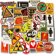 10/30/50pcs Pack bande dessinée étanche PVC avertir signe autocollants Skateboard bagages moto guitare Cool Graffiti autocollant enfants jouets
