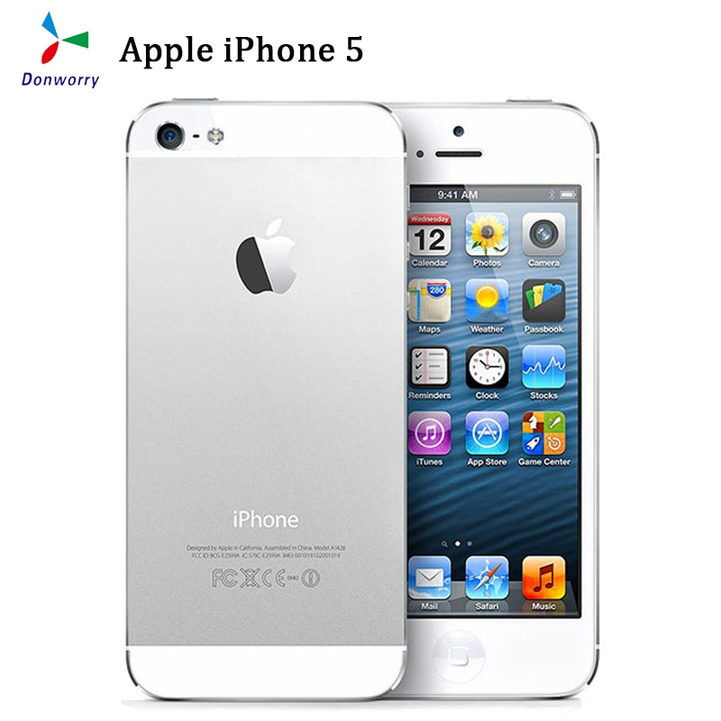 Unlocked Apple iPhone 5 Used (95% New ) GSM 3G Mobile Phone 16GB 32GB 64GB ROM Wifi 8MP 4.0inch IOS Cellphone Celulares