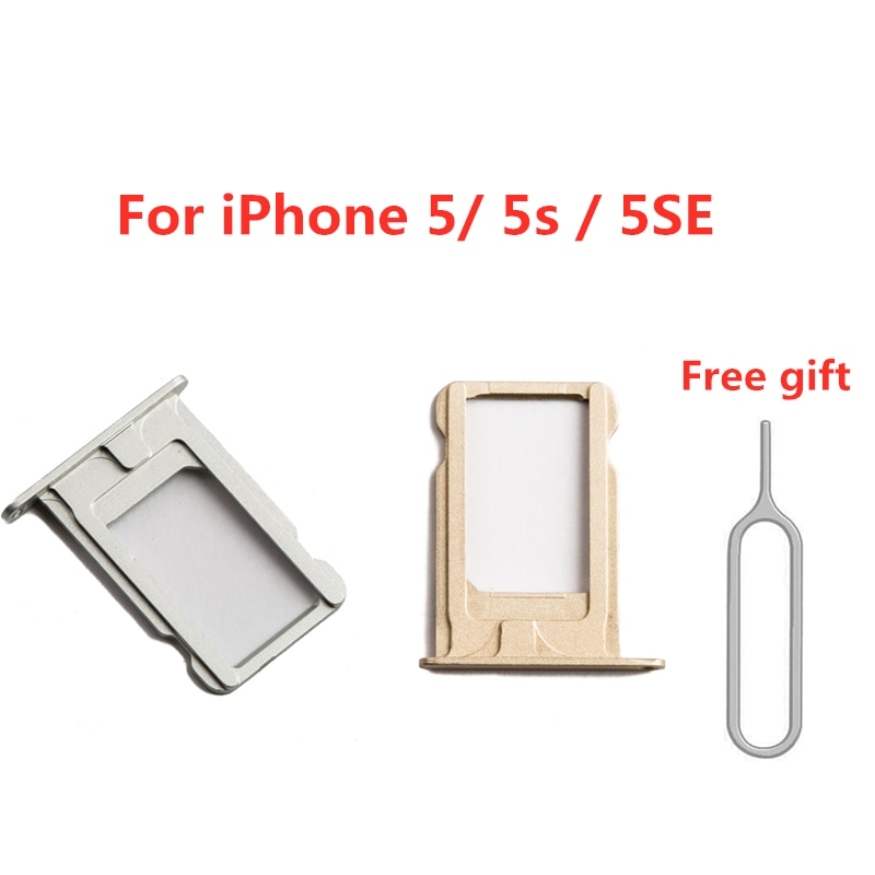 Sim Card Tray Slot Holder For iPhone 5 5S 5C 5SE Sim Card Adapter Replacement Parts With Pin Eject R