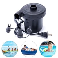 220v electric inflatable pump quick air filling compressor with 3 nozzles us plug for car camping life buoy boat cushion home