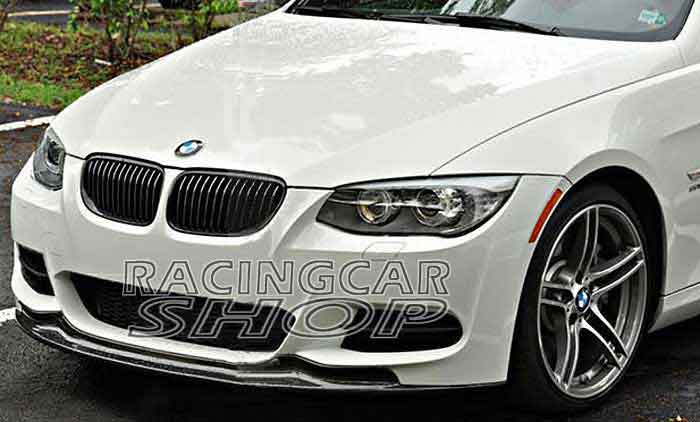 AK style Real Carbon Fiber Front Lip Spoiler for BMW E92 E93 Coupe 2door Lci M-tech Msport front bumper 2010-2012 B083