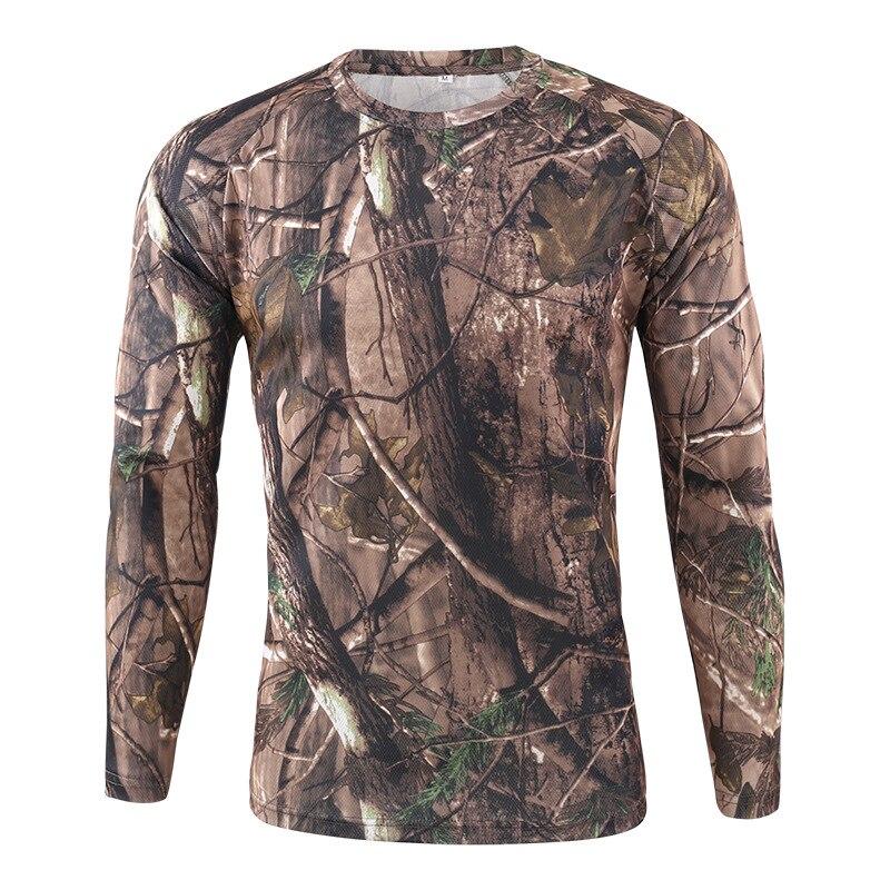 Camiseta de manga larga HEFLASHOR para hombre, camiseta de camuflaje para exteriores, camiseta de camuflaje de secado rápido para caza senderismo Camping, camisa para hombre 2020