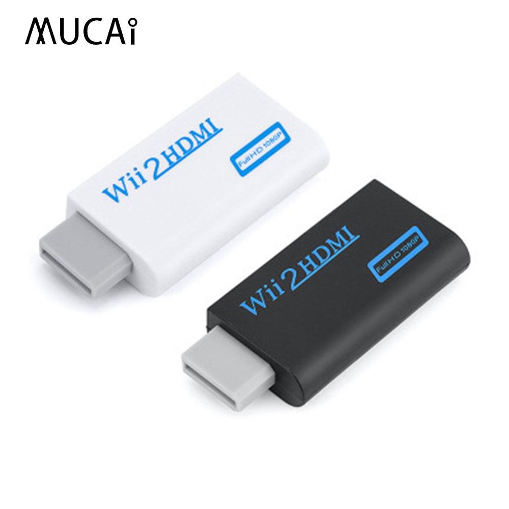 HD 1080P Wii compatible con HDMI Adaptador convertidor Wii2HDMI-compatible convertidor de Audio...