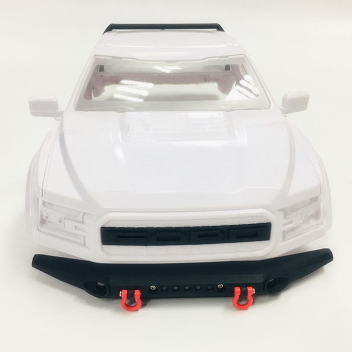 Plastic ABS 324mm Wheelbase Semi truck hard car shell With metal front and rear bumper For 1/10 RC Crawler Car Traxxas TRX4 Ford enlarge