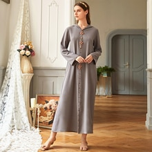 Siskakia Medio Oriente Luz de lujo de cristal rebordear con capucha vestido largo gris de manga larga de corte frontal maxi vestidos Dubai Oman árabe nuevo