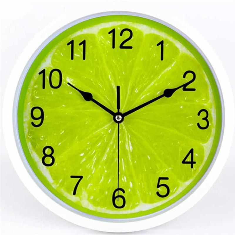 2020 Lemon Nordic Style Style Inch Modern Round Wall Clocks Modern Clocks Quartz Horloge Wathces Home Bedroom Wall Clocks E0540