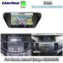 Lecteur multimédia autoradio pour Honda Accord 8 Europe 2008-2013 Android Audio vidéo Carplay GPS Navi cartes Navigation