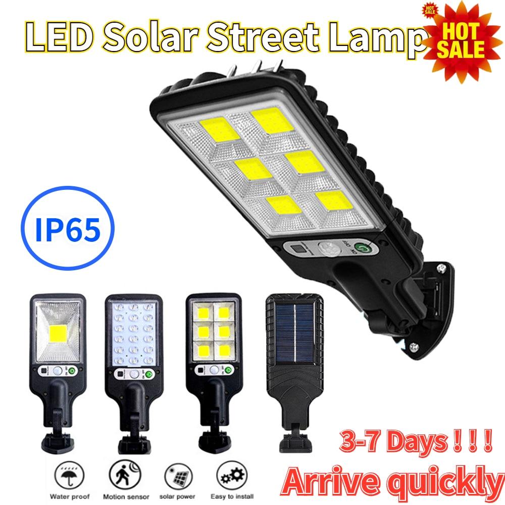 Уличный светодиодный фонарь на солнечной батарее, водонепроницаесветильник лампа с датчиком движения, 3 режима, IP65, для сада, дорожек, двора,...