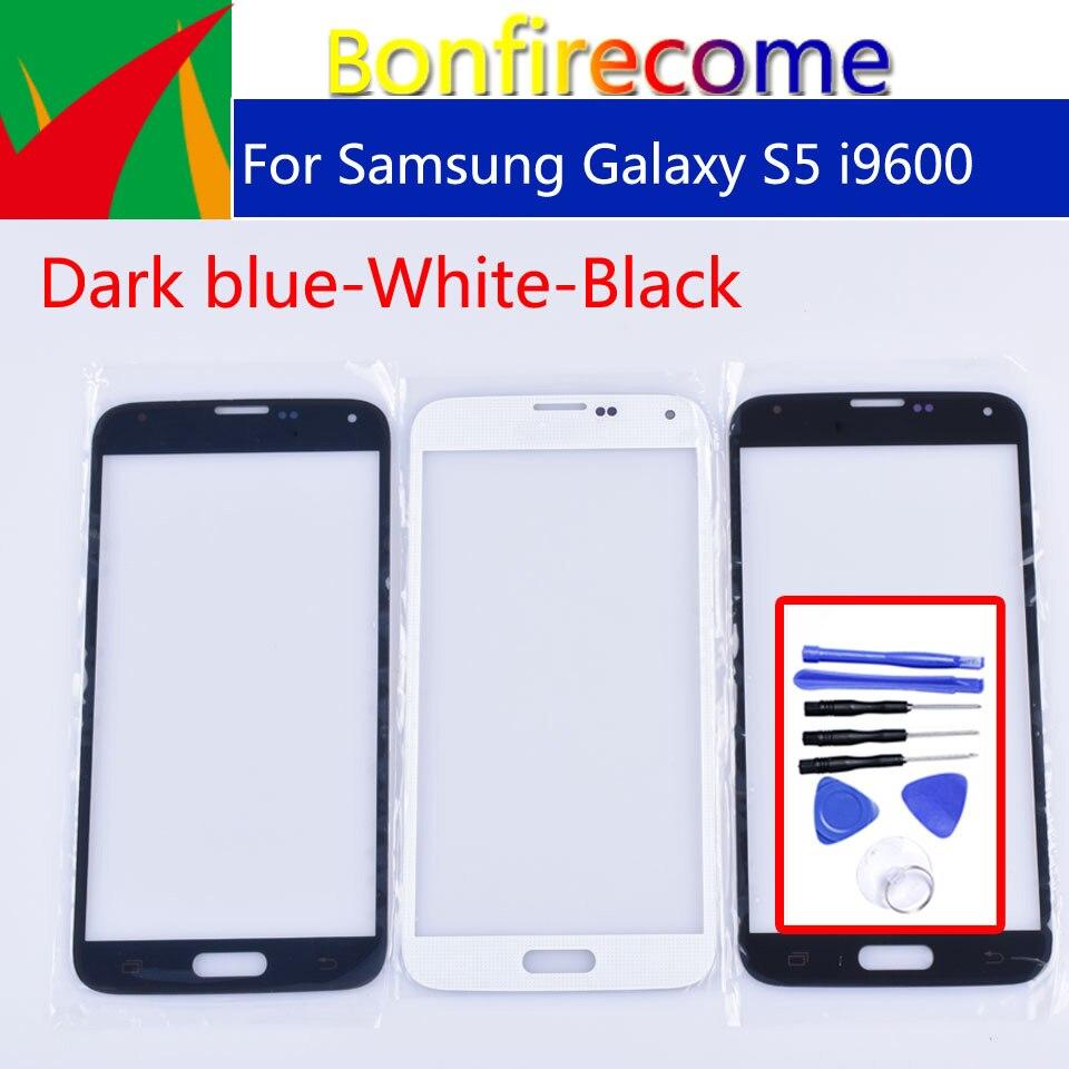 S5 écran tactile pour Samsung Galaxy S5 i9600 G900F G900H G900A G900 LCD avant extérieur verre écran tactile lentille 5.1